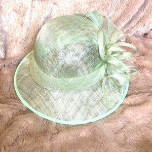 Josette teal aquamarine derby hat